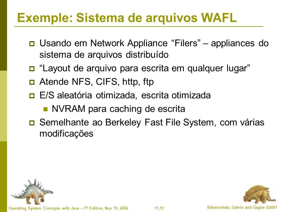 Exemple: Sistema de arquivos WAFL