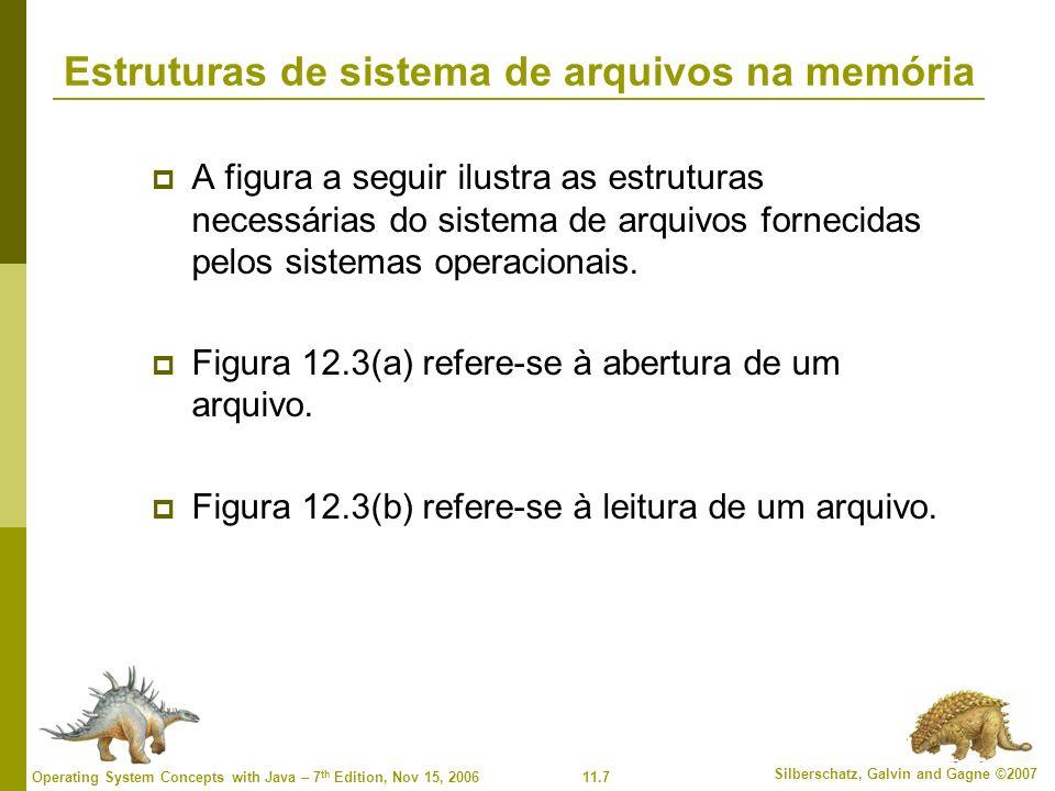 Estruturas de sistema de arquivos na memória