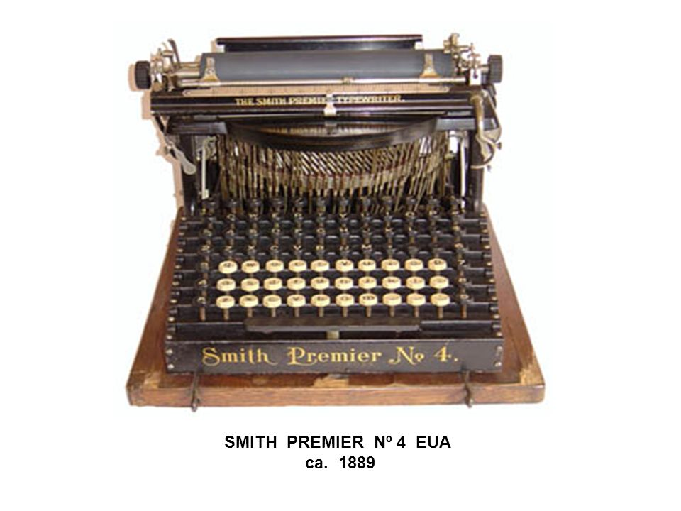 SMITH PREMIER Nº 4 EUA ca. 1889