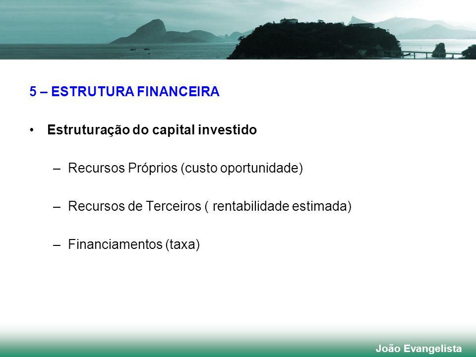 5 – ESTRUTURA FINANCEIRA Estruturação do capital investido