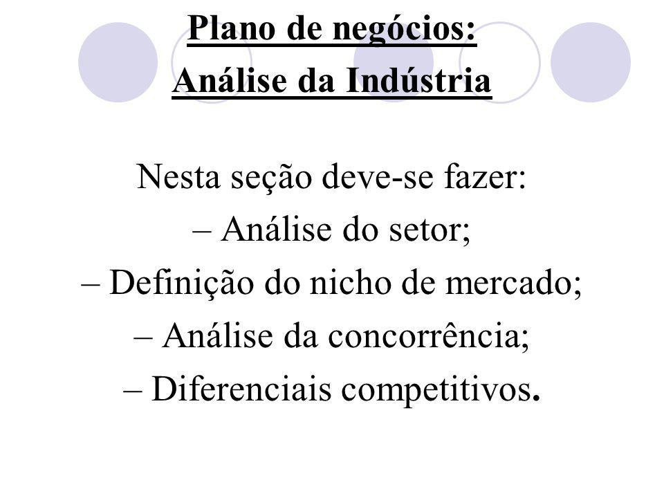 Plano de negócios: Análise da Indústria