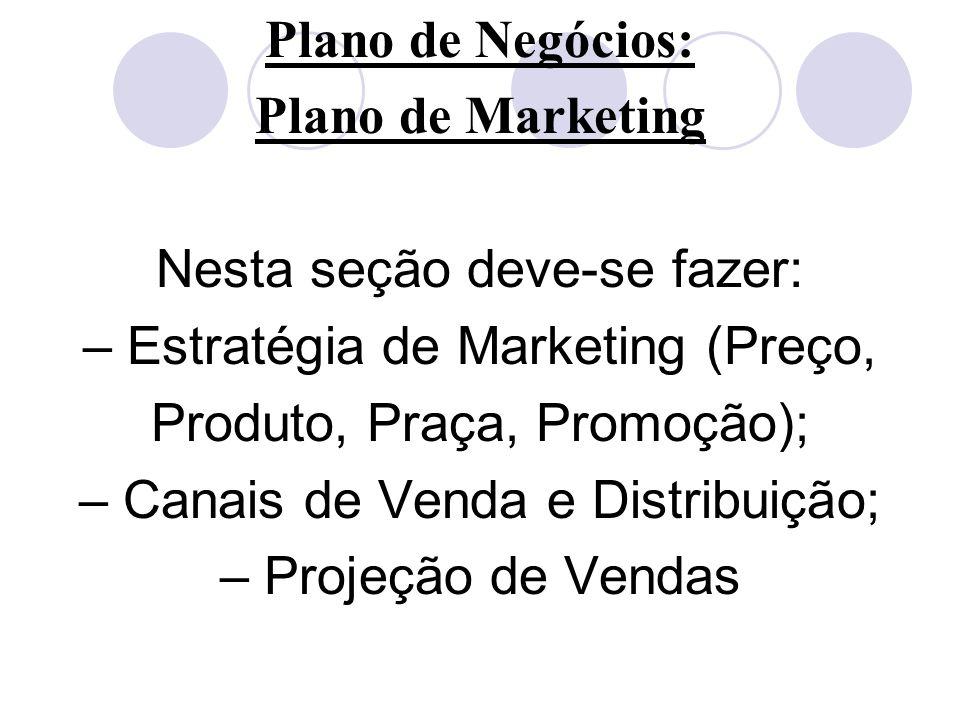 Plano de Negócios: Plano de Marketing