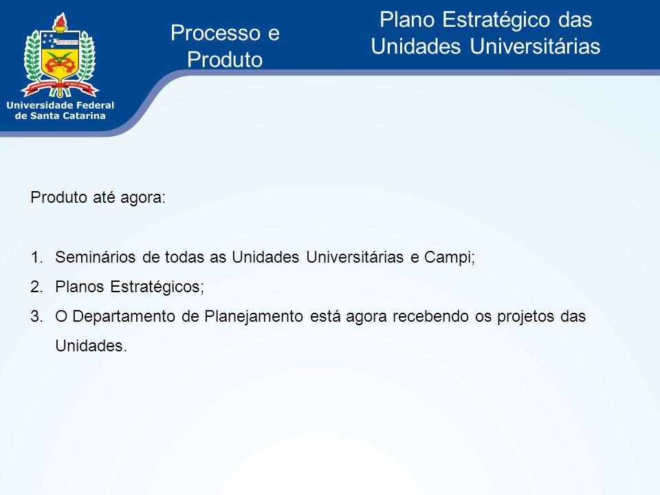 Plano Estratégico das Unidades Universitárias