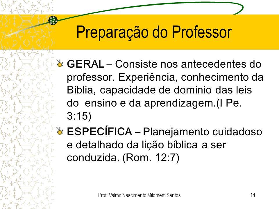 Preparação do Professor