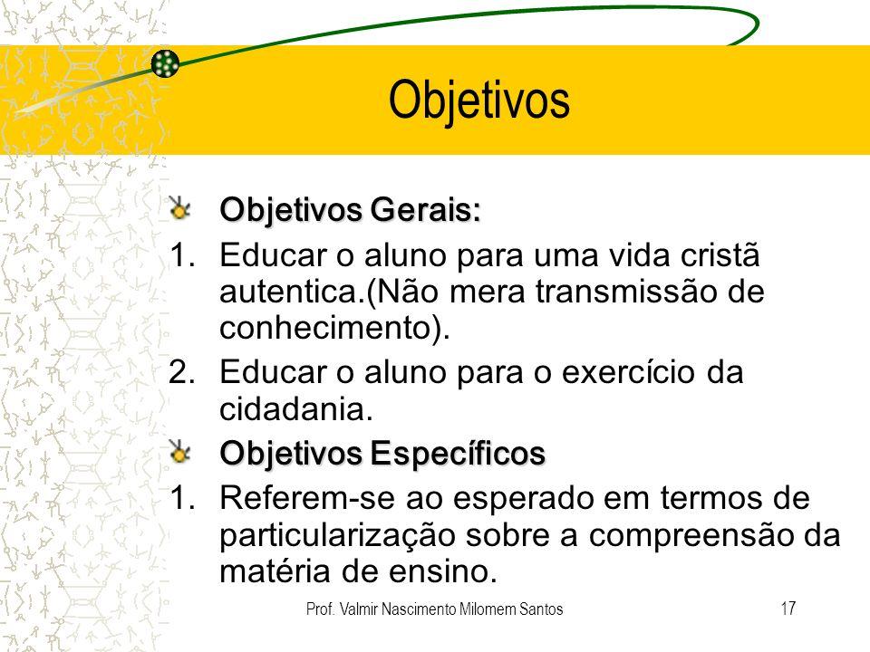 Prof. Valmir Nascimento Milomem Santos
