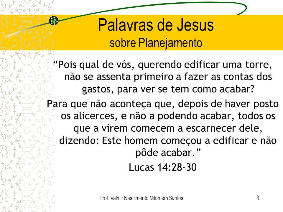 Palavras de Jesus sobre Planejamento