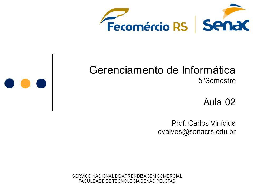 Gerenciamento de Informática 5ºSemestre Aula 02 Prof