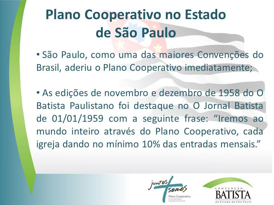 Plano Cooperativo no Estado de São Paulo