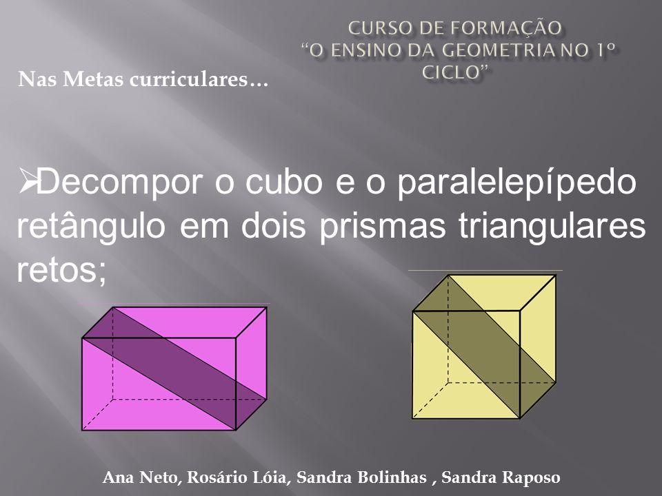 Curso de formação O ensino da geometria no 1º ciclo