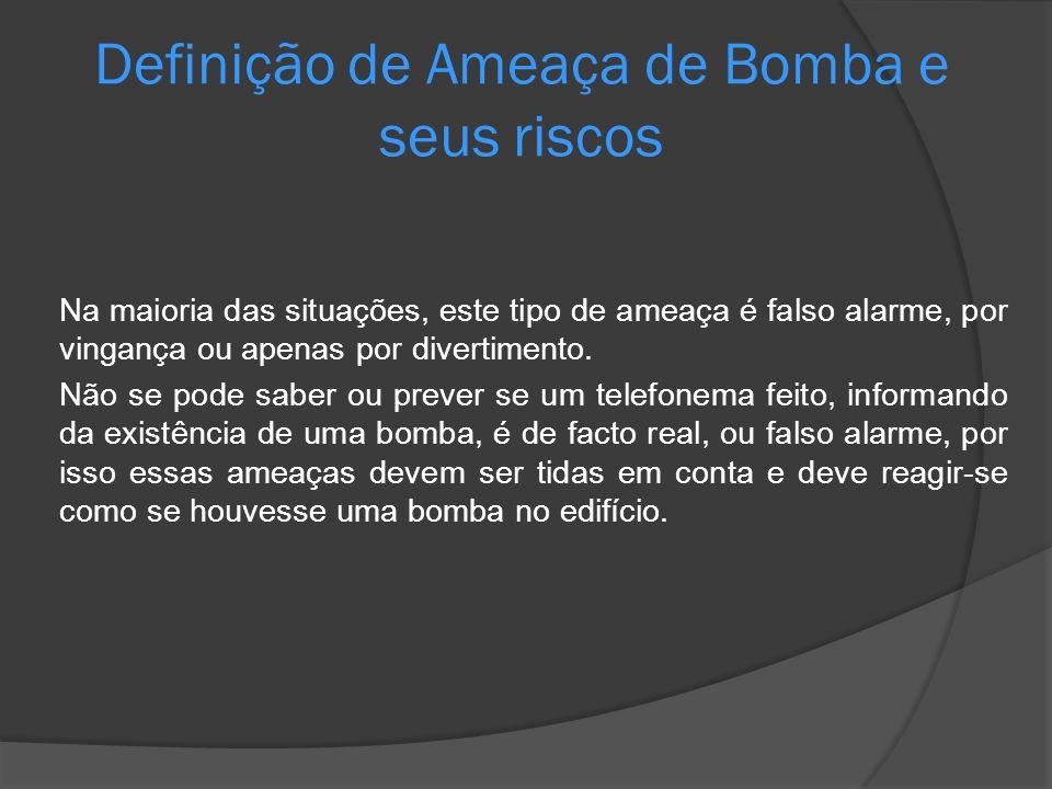 Definição de Ameaça de Bomba e seus riscos
