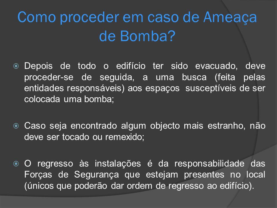 Como proceder em caso de Ameaça de Bomba