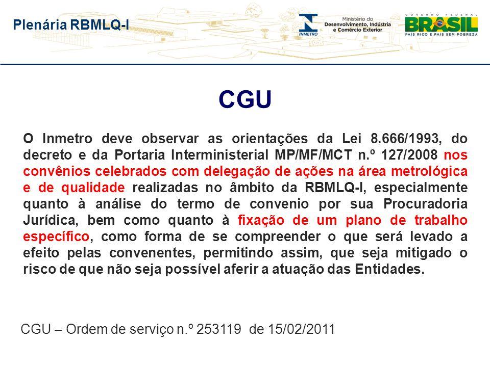 CGU – Ordem de serviço n.º 253119 de 15/02/2011