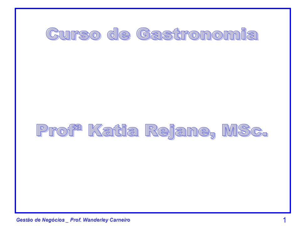 Curso de Gastronomia Profª Katia Rejane, MSc.