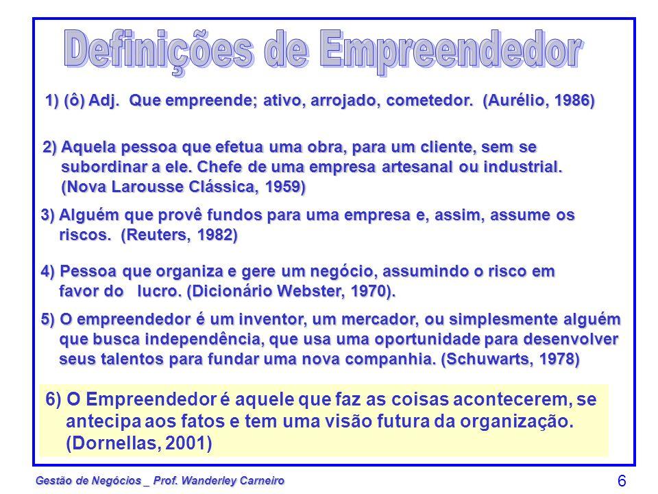 Definições de Empreendedor
