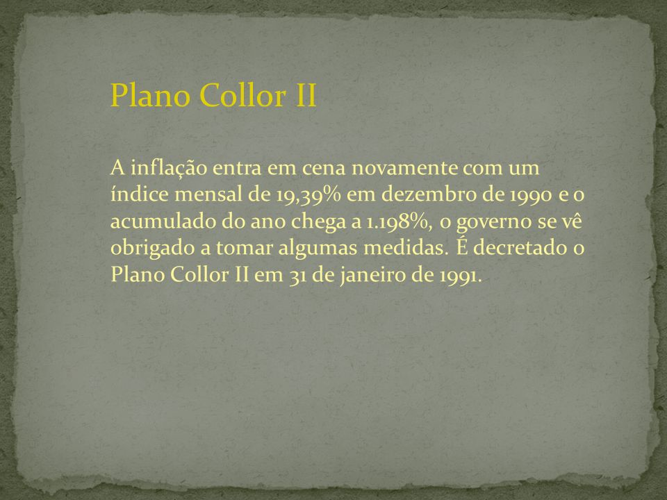 Plano Collor II
