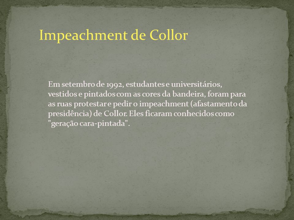 Impeachment de Collor