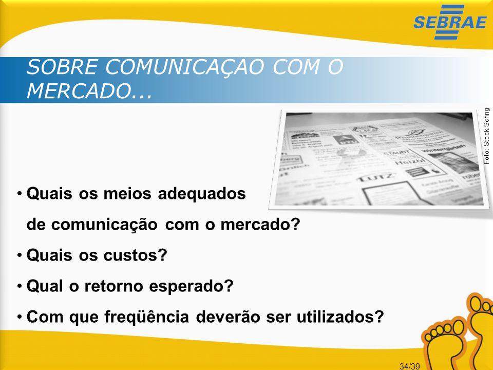 SOBRE COMUNICAÇÃO COM O MERCADO...