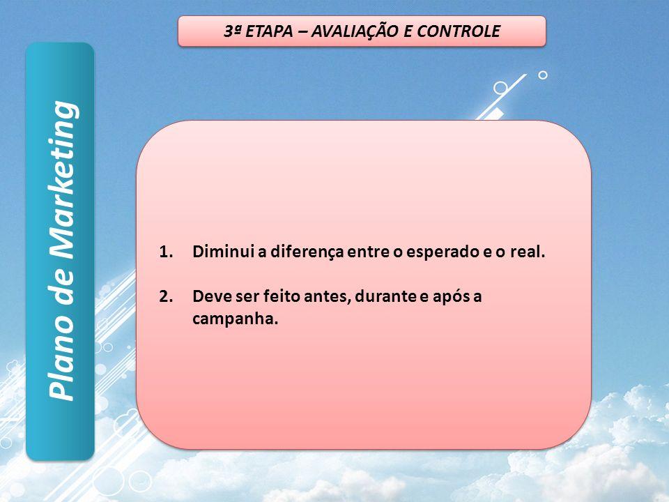 3ª ETAPA – AVALIAÇÃO E CONTROLE