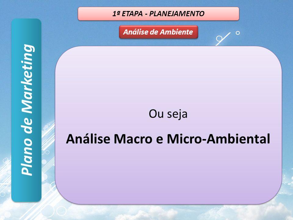 Análise Macro e Micro-Ambiental