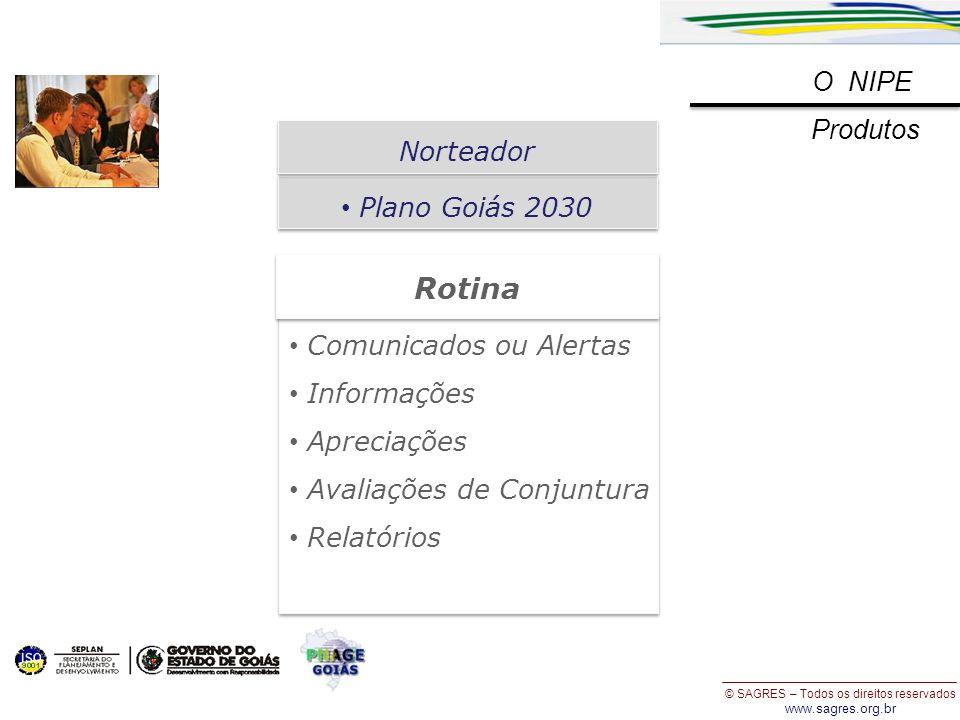 Rotina O NIPE Produtos Norteador Plano Goiás 2030