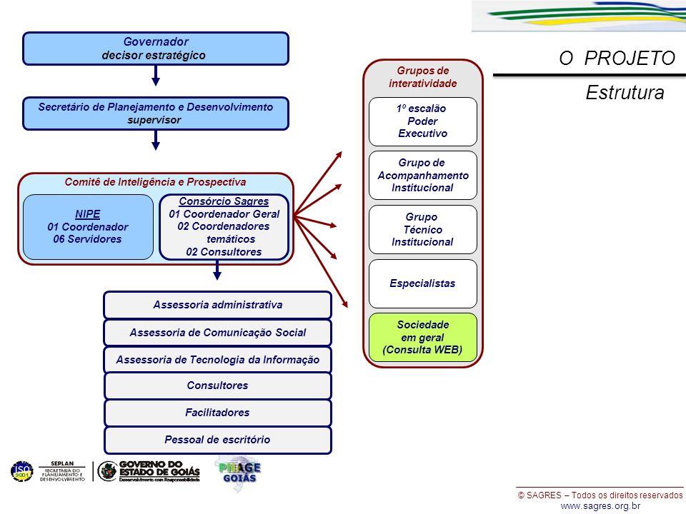 O PROJETO Estrutura Governador decisor estratégico Grupos de