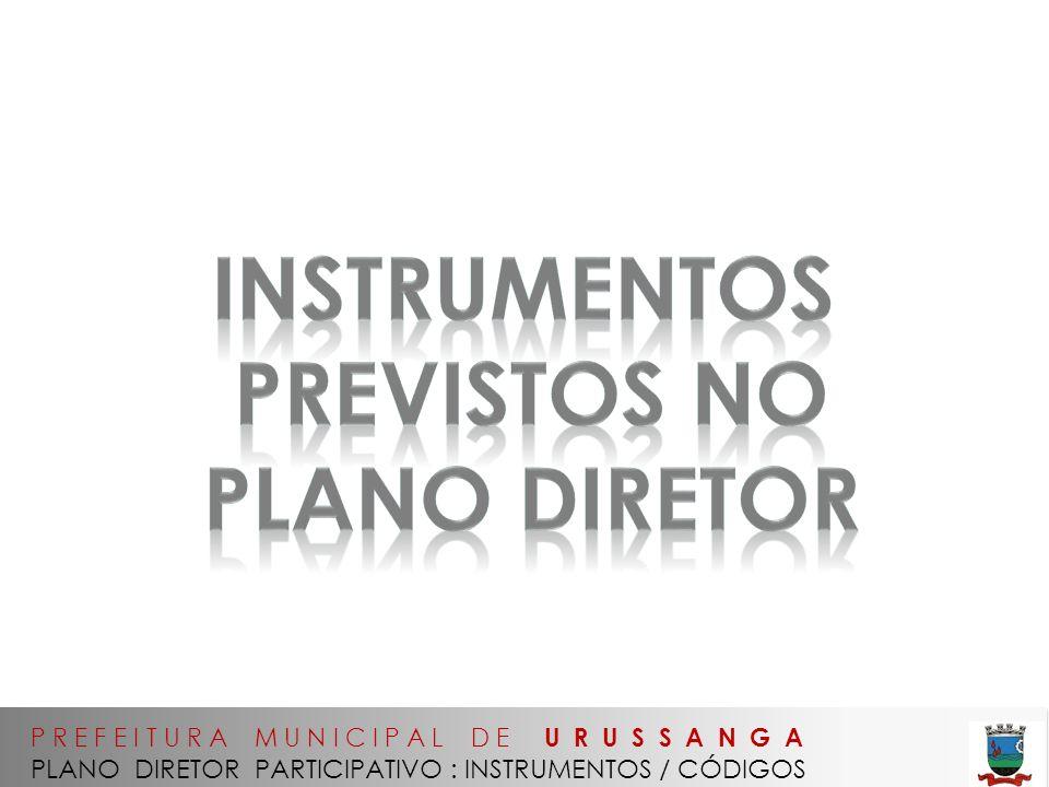 instrumentos previstos no PLANO diretor