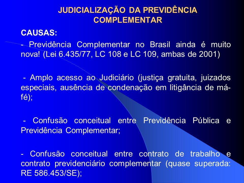 JUDICIALIZAÇÃO DA PREVIDÊNCIA COMPLEMENTAR
