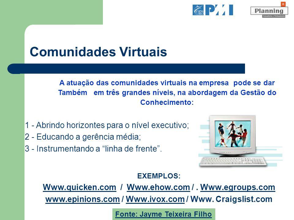 Comunidades Virtuais 1 - Abrindo horizontes para o nível executivo;