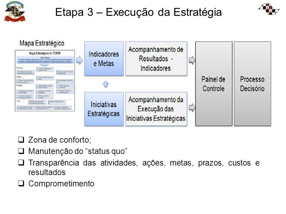 Etapa 3 – Execução da Estratégia