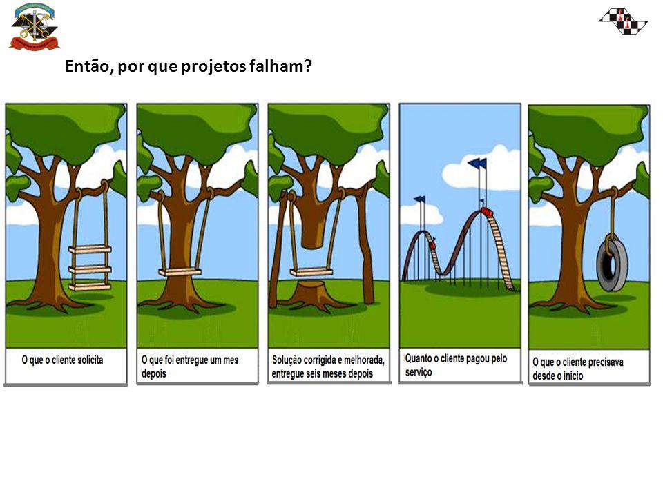 Então, por que projetos falham