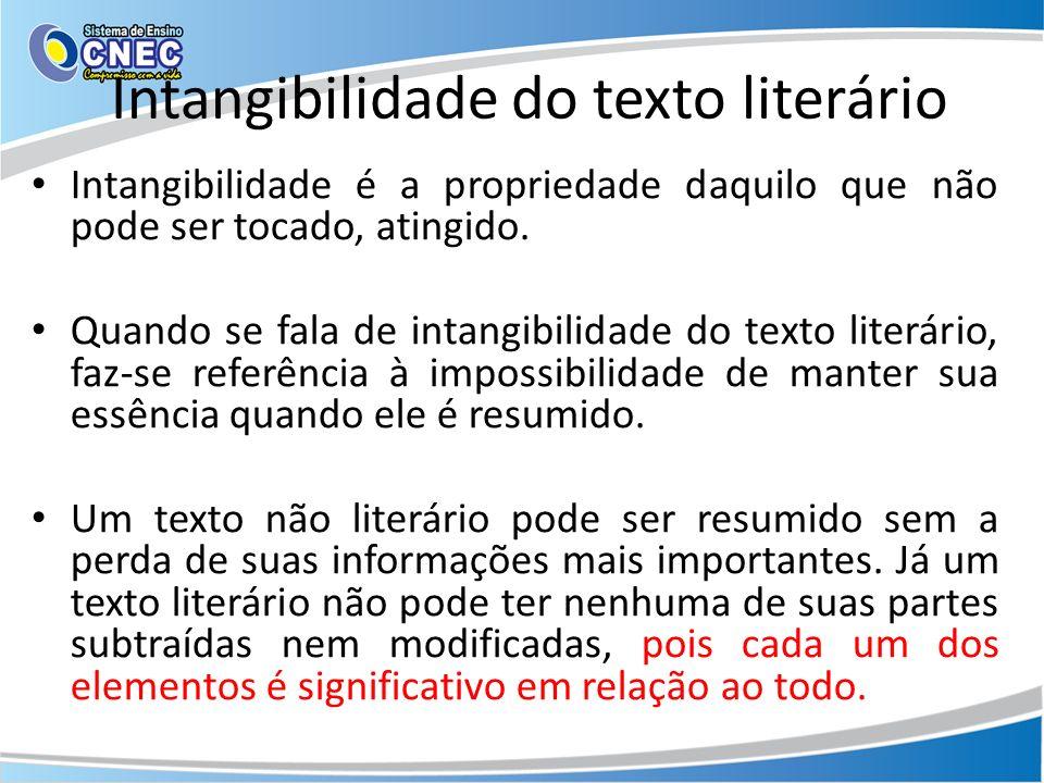 Intangibilidade do texto literário