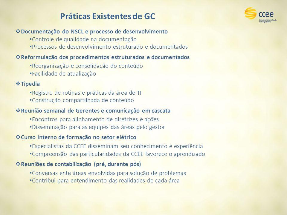 Práticas Existentes de GC