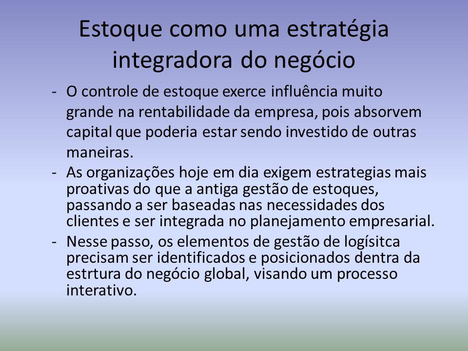 Estoque como uma estratégia integradora do negócio
