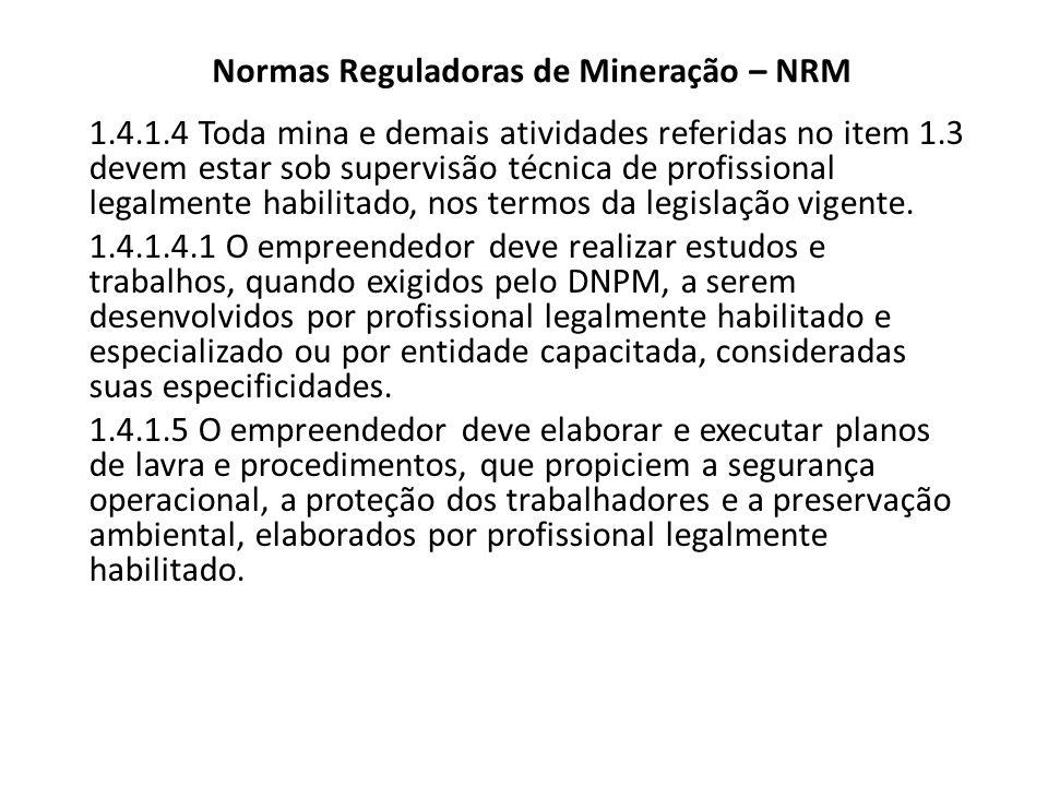 Normas Reguladoras de Mineração – NRM