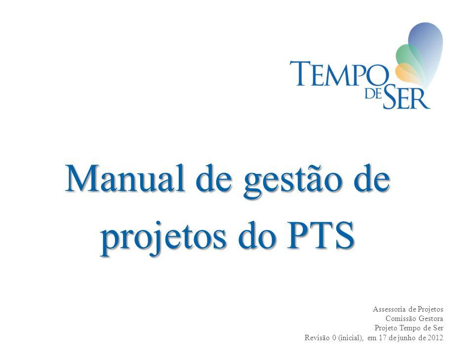 Manual de gestão de projetos do PTS
