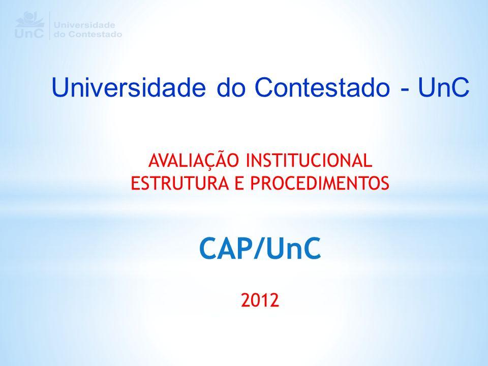 CAP/UnC Universidade do Contestado - UnC AVALIAÇÃO INSTITUCIONAL