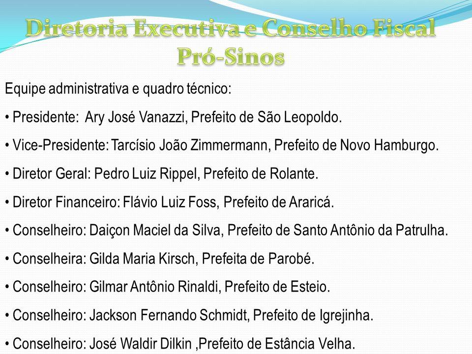 Diretoria Executiva e Conselho Fiscal Pró-Sinos