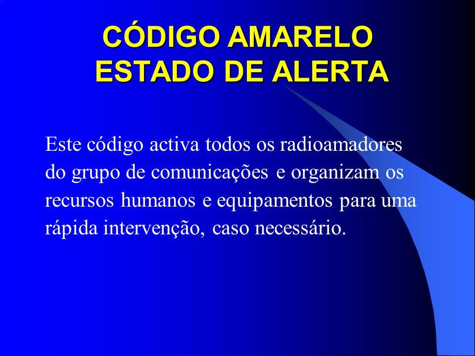 CÓDIGO AMARELO ESTADO DE ALERTA