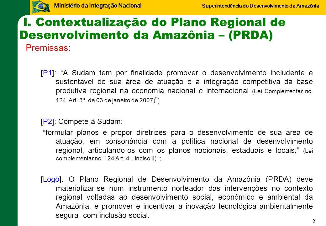 I. Contextualização do Plano Regional de Desenvolvimento da Amazônia – (PRDA)