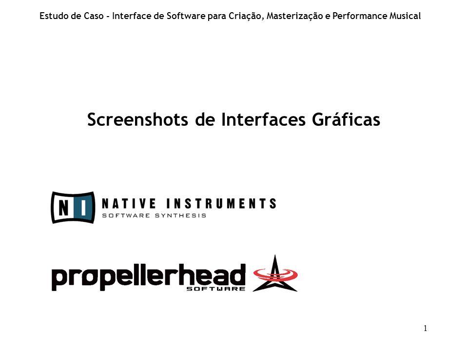 Screenshots de Interfaces Gráficas