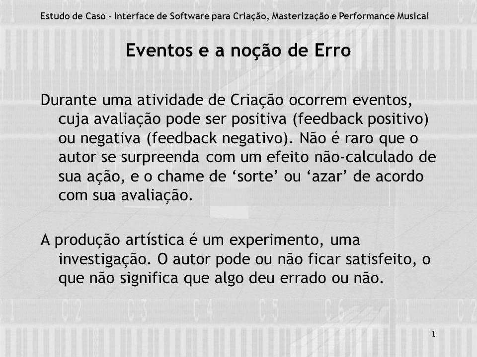 Eventos e a noção de Erro