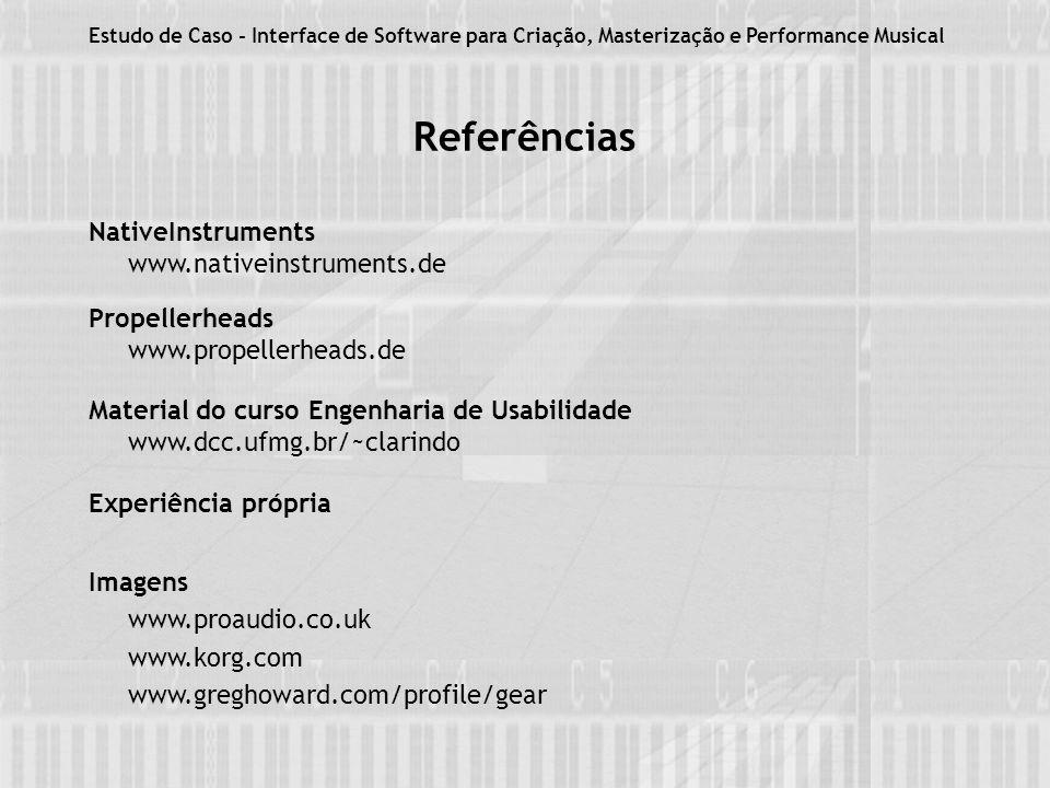 Referências NativeInstruments www.nativeinstruments.de