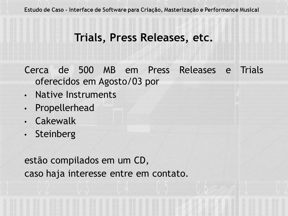 Trials, Press Releases, etc.