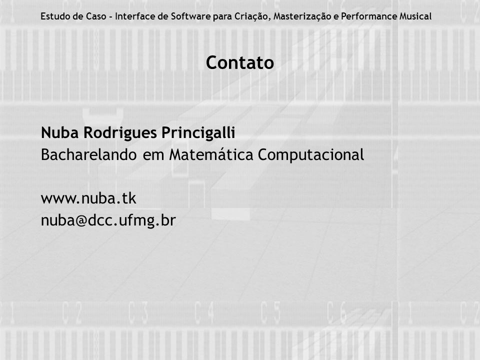 Contato Nuba Rodrigues Princigalli