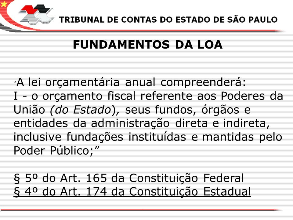§ 5º do Art. 165 da Constituição Federal