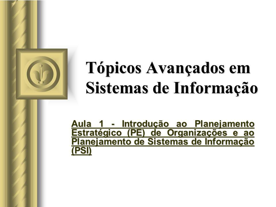Tópicos Avançados em Sistemas de Informação