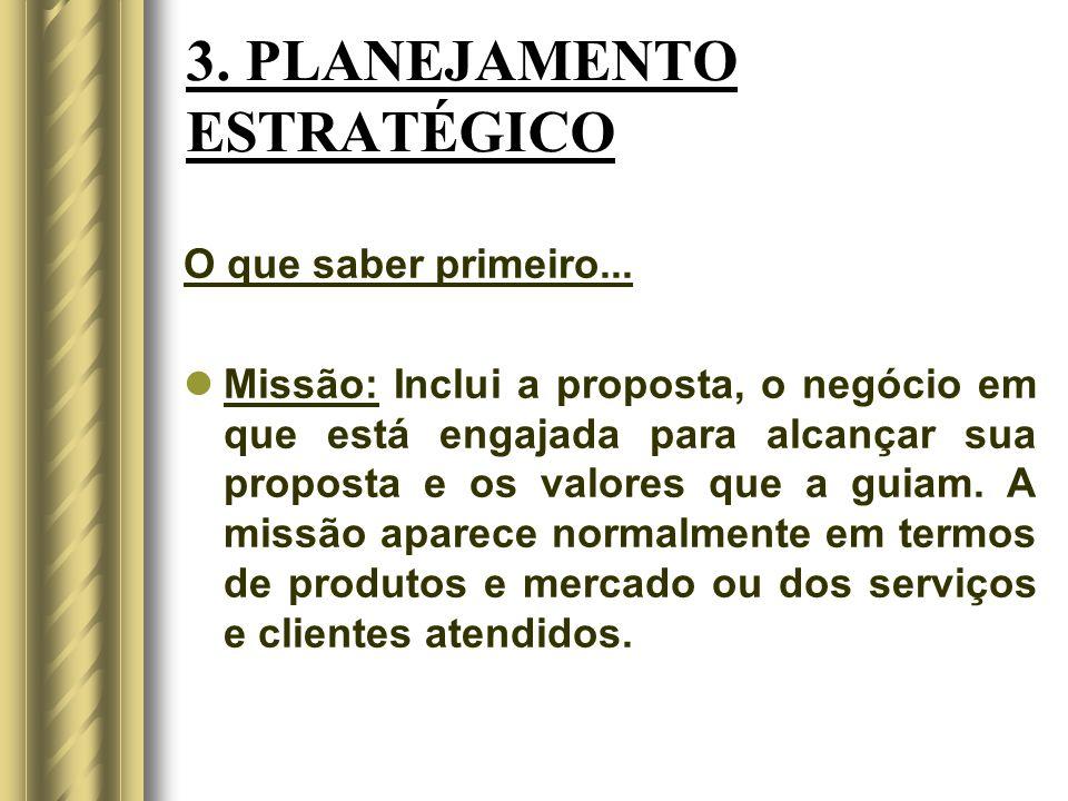 3. PLANEJAMENTO ESTRATÉGICO