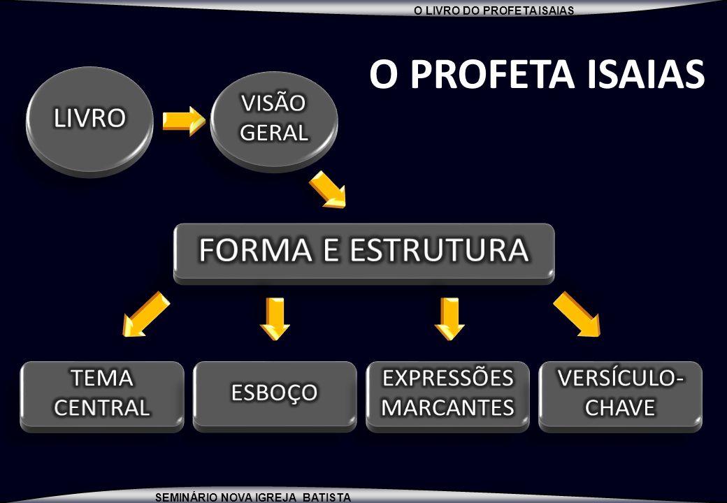 O PROFETA ISAIAS FORMA E ESTRUTURA LIVRO VISÃO GERAL TEMA CENTRAL