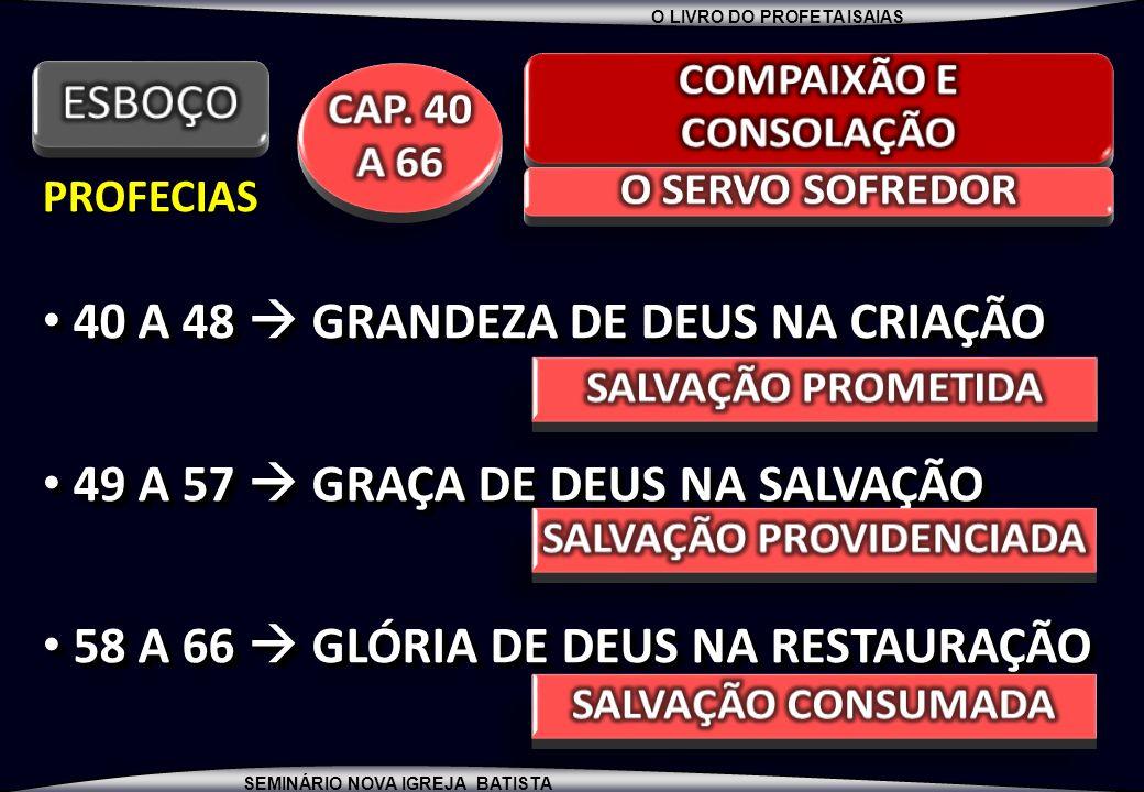 COMPAIXÃO E CONSOLAÇÃO SALVAÇÃO PROVIDENCIADA
