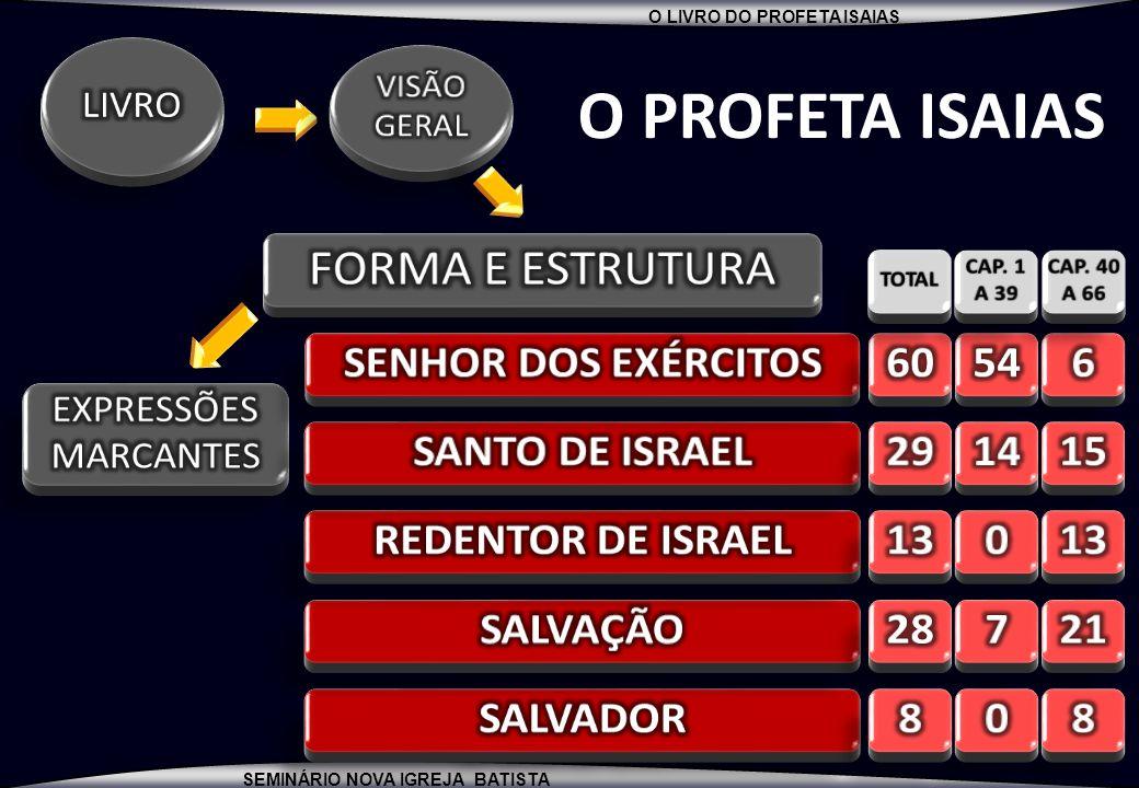 O PROFETA ISAIAS FORMA E ESTRUTURA SENHOR DOS EXÉRCITOS 60 54 6